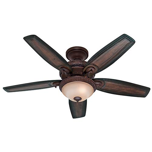 Claymore Brushed Cocoa Three Light 52-Inch Ceiling Fan