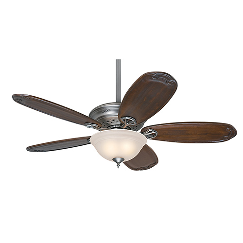 Teague Antique Pewter Fluorescent Two Light 52-Inch Ceiling Fan with Light