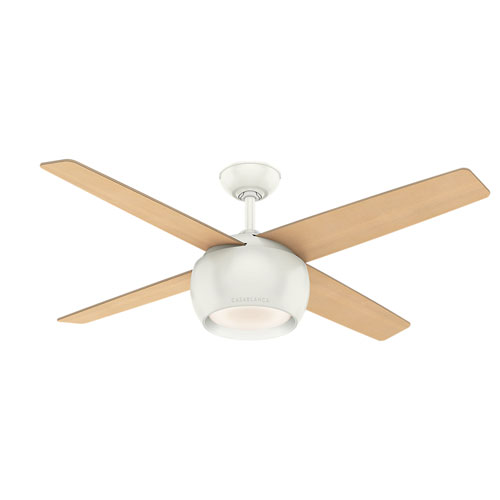 Valby Fresh White 54-Inch LED Ceiling Fan