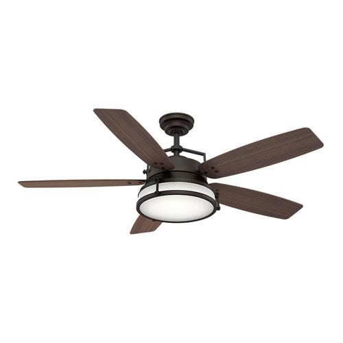 Caneel Bay Maiden Bronze 56-Inch LED Ceiling Fan