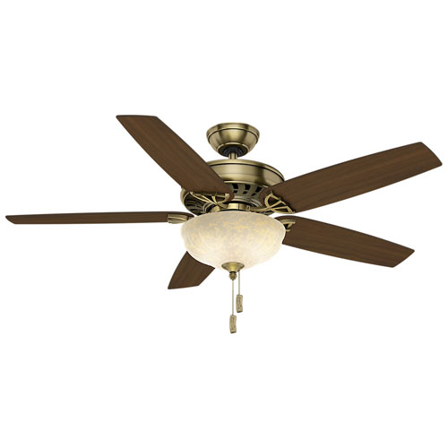 Concentra Gallery Antique Brass 54-Inch Ceiling Fan