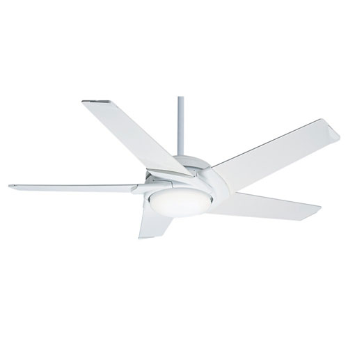 Stealth DC Snow White 54-Inch LED Energy Star Ceiling Fan
