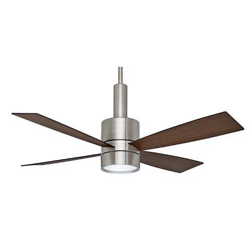 Bullet Brushed Nickel 54-Inch Ceiling Fan