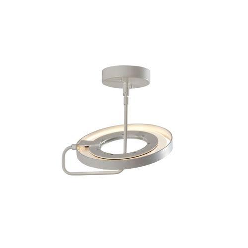 Ringo Satin White LED Semi-Flush Mount