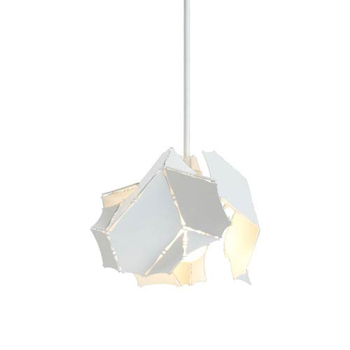 Cumulus Satin White One-Light Long Mini Pendant