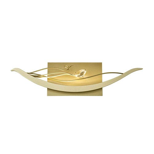 Courbe Soft Gold LED Wall Sconce with Crystal Accent