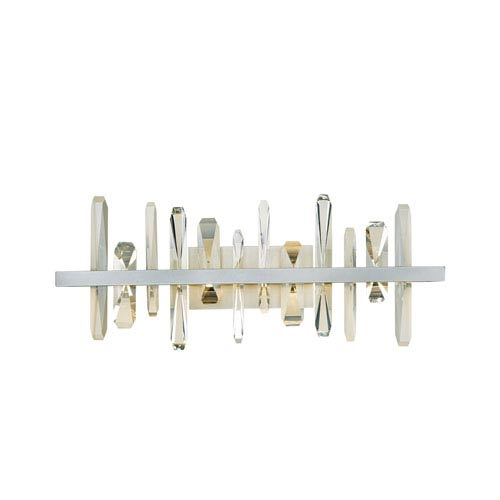 Synchronicity Solitude Vintage Platinum LED Wall Sconce with Crystal Accent