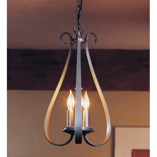Natural Iron Three-Light Chandelier