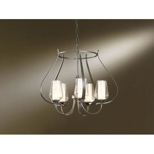 Hubbardton Forge Flora Sconce: Clear Glass Foyer Lighting