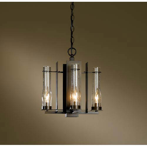 New Town Bronze Four-Light Chandelier