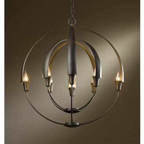 Cirque Dark Smoke Eight-Light Large Chandelier