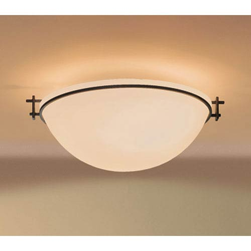 Moonband Natural Iron 6.5-Inch Three Light Semi-Flush with Sand Glass