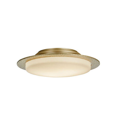 Oceanus Soft Gold Two-Light 17-Inch Semi-Flush with Pearl Glass