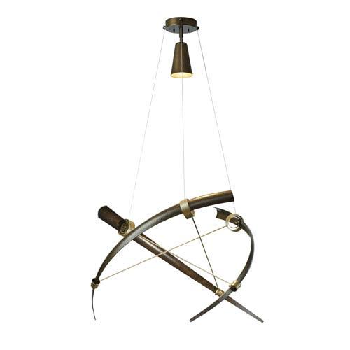 Hubbardton Forge Crescent Bronze One-Light 40-Inch Pendant