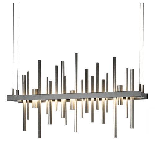 Cityscape Burnished Steel 25.5-Inch LED Pendant