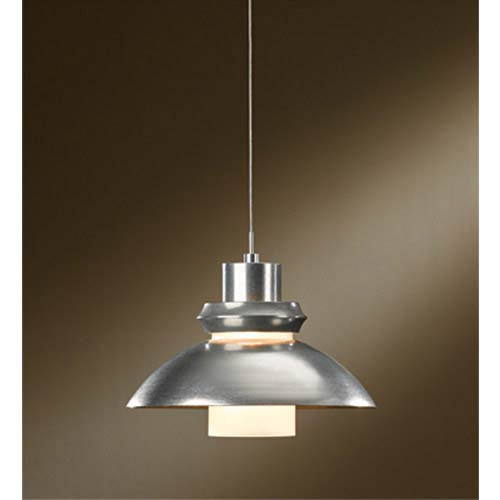 Staccato Vintage Platinum One-Light Dome Pendant with Cast Glass