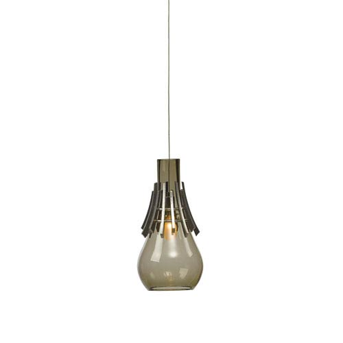 Colette Vintage Platinum 6-Inch One-Light Mini Pendant