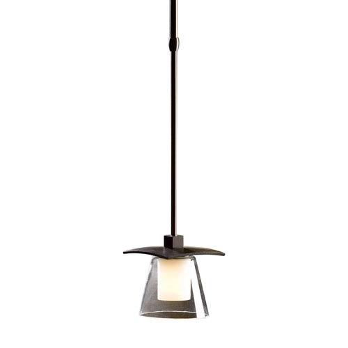Wren Mahogany One-Light 5-Inch Mini Pendant with Stone Glass