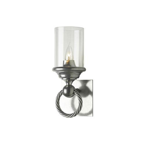 Hubbardton Forge Cavo Vintage Platinum One-Light 5-Inch Wall Sconce with Clear Glass