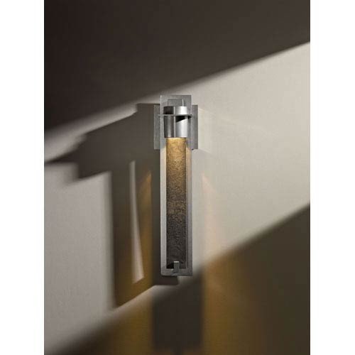 Airis Vintage Platinum One Light Wall Sconce with Heavily Forged Plate