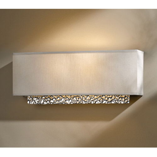Oceanus Vintage Platinum Two-Light Wall Sconce with Flax Shade
