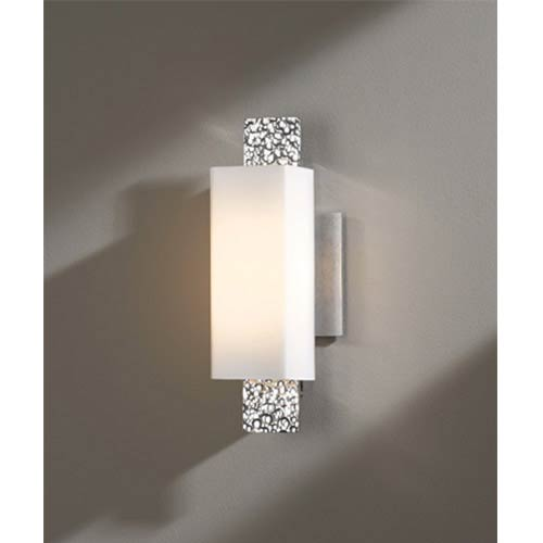 Oceanus Vintage Platinum One-Light 4.Wall Sconce with Opal Glass