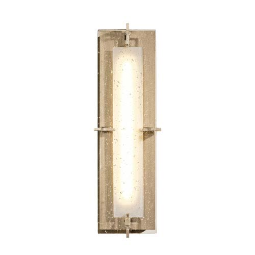 Ethos Soft Gold LED Bath Sconce with Seeded Clear Glass