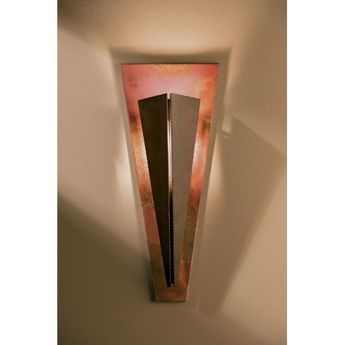 Tapered Angle Bronze 20.3-Inch One Light Wall Sconce