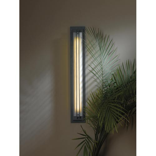 Ono Burnished Steel Fluorescent One-Light Sconce