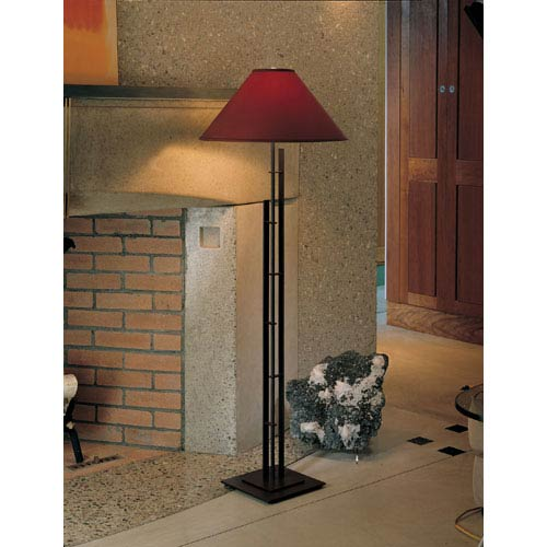 Metra Mahogany One Light Floor Lamp with Terra Micro-Suede Shade