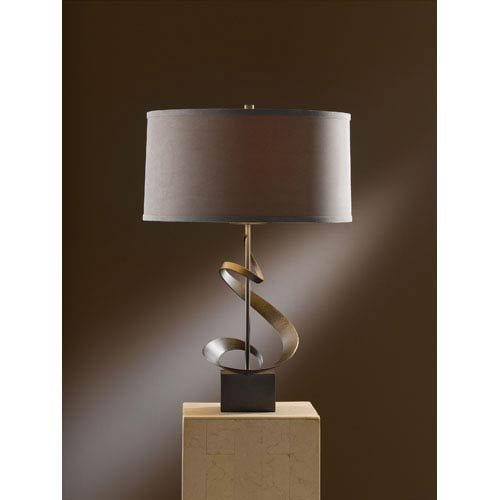 Gallery Dark Smoke 22.9-Inch One Light Table Lamp with Eclipse Micro-Suede Shade