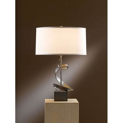 Hubbardton Forge Metra Double Floor Lamp: Hand Forged Table Lamp