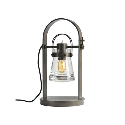 Erlenmeyer Dark Smoke 10.5-Inch One-Light Table Lamp