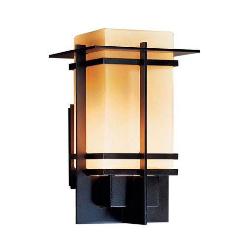 Hubbardton Forge Tourou Black 10.5-Inch One-Light Outdoor Wall Sconce