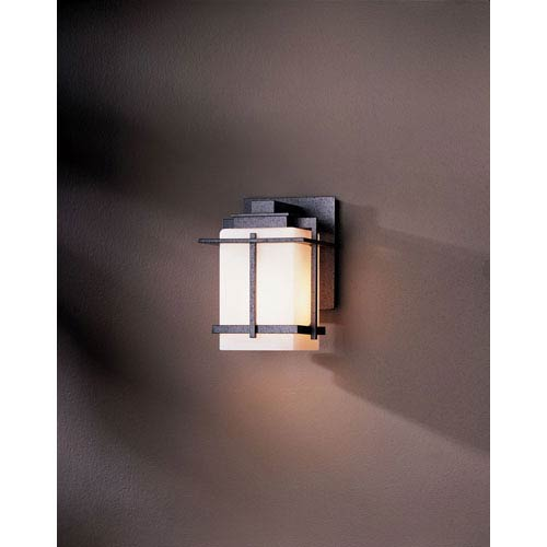 Tourou Natural Iron One Light Outdoor Sconce with Opal Glass