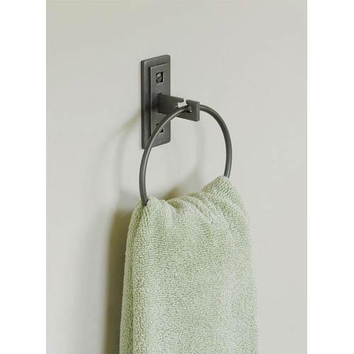 Hubbardton Forge Universal Dark Smoke 7-Inch Ring Towel Holder