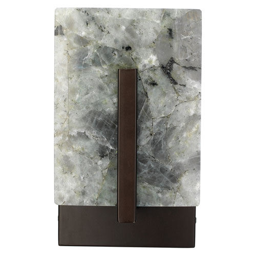 Halo Labradorite and Oil Rubbed Bronze Metal Sconce