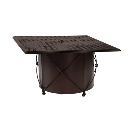 Woodard Round Fire Pit Base with Square Burner