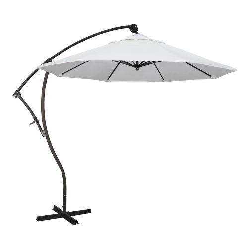 Bayside Bronze with Natural Nine-Feet Sunbrella Patio Umbrella