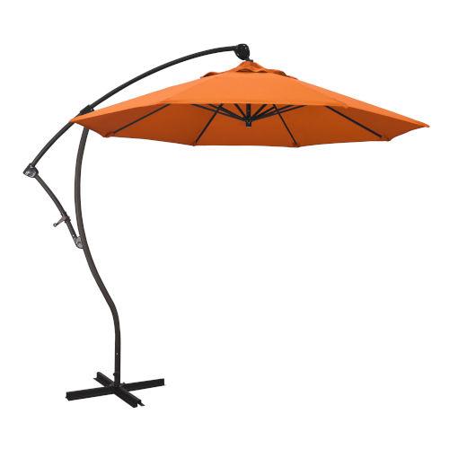 Bayside Bronze with Tangerine Nine-Feet Sunbrella Patio Umbrella