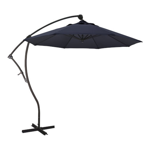 Bayside Bronze with Navy Nine-Feet Sunbrella Patio Umbrella