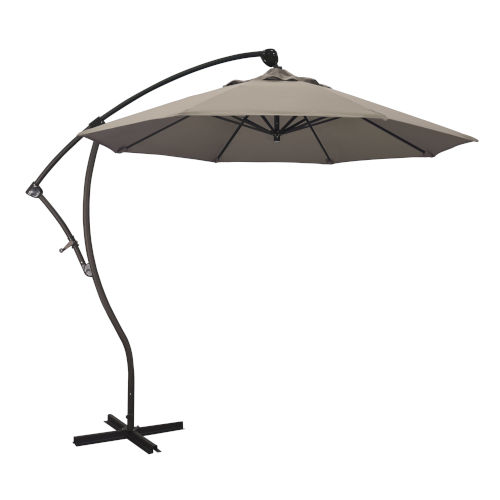 Bayside Bronze with Taupe Nine-Feet Sunbrella Patio Umbrella
