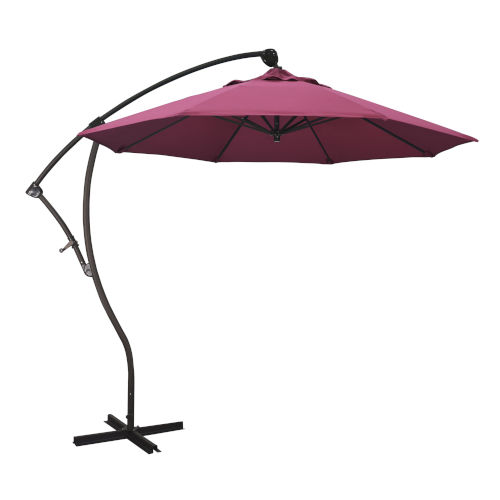 Bayside Bronze with Hot Pink Nine-Feet Sunbrella Patio Umbrella