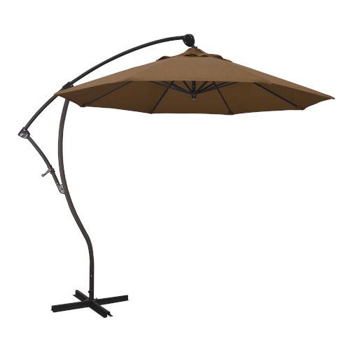 Bayside Bronze with Teak Nine-Feet Sunbrella Patio Umbrella