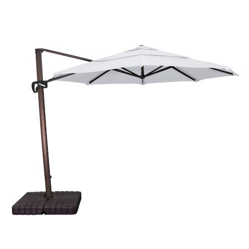 Cali Bronze with Natural 11-Feet Sunbrella Patio Umbrella