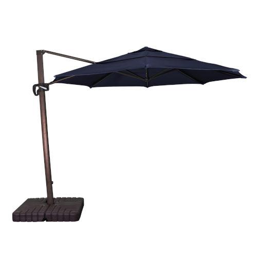 Cali Bronze with Navy 11-Feet Sunbrella Patio Umbrella
