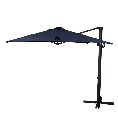 Cali Bronze with Navy Nine-Feet Sunbrella Patio Umbrella