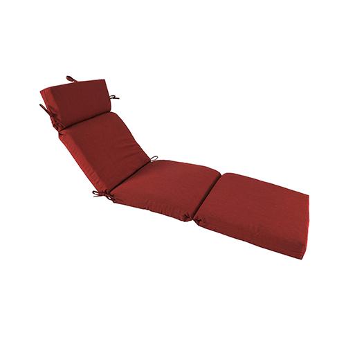 Pacifica Premium Patio Chaise Cushion in Caliente