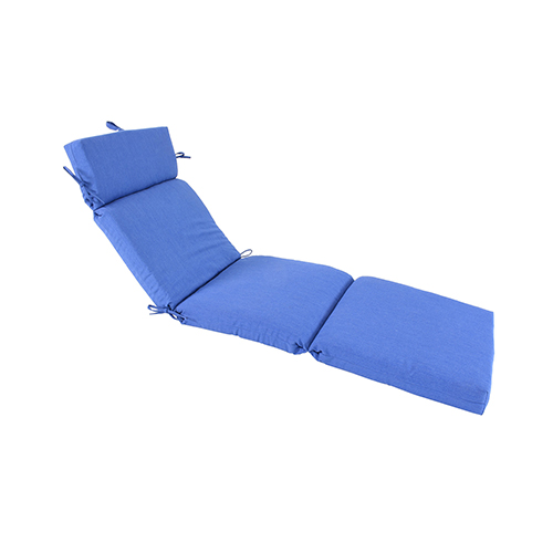 Pacifica Premium Patio Chaise Cushion in Lapis