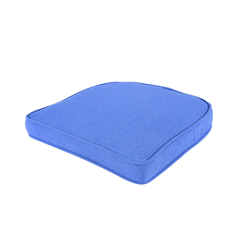 Pacifica Premium Double Welt Wicker Seat Cushion in Lapis